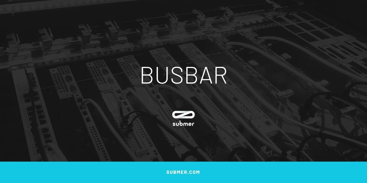 What is a busbar used for